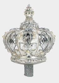 silver crown polish mouth blown glass christmas tree topper