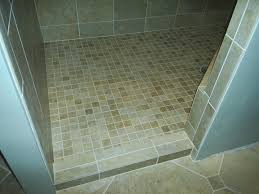 Best Tile For Shower by Marble Tile Shower Floor With Ceramic Subway On The Wallstile For