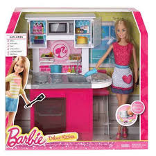 Deluxe Kitchen Play Set by Barbie Doll And Deluxe Kitchen Furniture Accessories Play Set