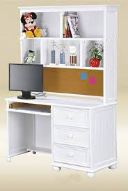 montclair white bead board computer desk student desk drawers