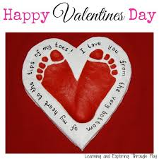 heart gifts salt dough heart footprint keepsake ted s