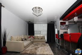 high gloss stretch ceiling not only visually doubled the height of