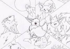 printable pokemon coloring pages eevee evolutions 3287 pokemon