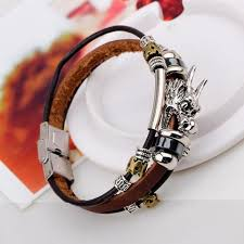 dragon leather bracelet images Mens 39 tibetan dragon leather bracelet zenheavens jpg
