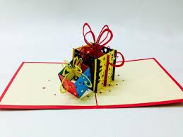 present box 3d pop up card buy 3d pop up paper card pop up card