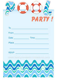 party invitation design free printable pool party invitations