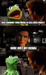 Vertical Meme Generator - kermit has lunch with a friend imgflip