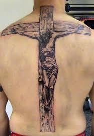 awesome large grey ink cross on back
