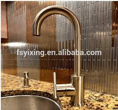 stainless steel mosaic tile backsplash mi22 copper mini brick uniform brick stainless steel backsplashes