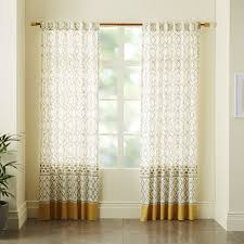 Cotton Canvas Curtains Cotton Canvas Medina Border Curtain West Elm If You Do Your