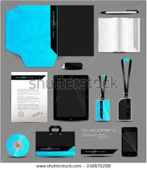 stationery set stationery set design geometric vector stock vector 232565404