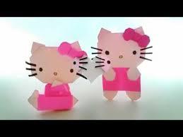 cara membuat origami hello kitty 3d cara membuat hello kitty dari kertas warna youtube