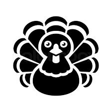 turkey thanksgiving icon on white background vector illustration