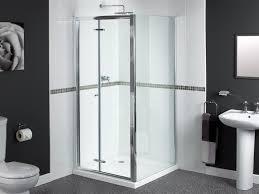bi fold shower door hinges shine bifold shower door 900mm polished silver fen0900aqu