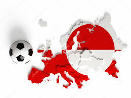 Europe Flag Map by Greenland Flag On European Map With National Borders U2014 Stock Photo