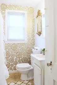 Wallpaper Ideas For Bathroom Diy Floral Faux Wallpaper