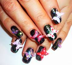 one hundred styles butterfly 3d nail art design