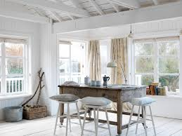 Beachy Dining Room by Splashy Rustic Tuscan Decor In Dining Room Beach Style With Wood