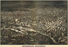 Map Of Minneapolis Herancourt U0027s Birdseye Of Minneapolis 1885