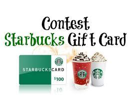 starbucks christmas gift cards contest 100 starbucks gift card entertain kids on a dime blog