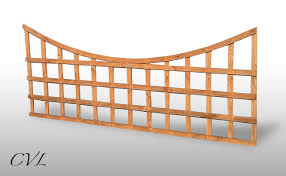 new 6ft x 75cm curved top garden trellis fence panel ebay