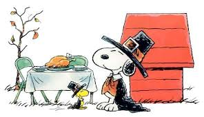 a snoopy and woodstock thanksgiving snoopy friends