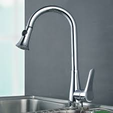 l6910 solid brass singel lever high arc pull down kitchen faucet