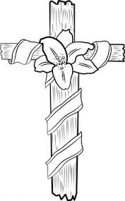 Easter Flower Coloring Pages - cross with flowers coloring page flowers coloring and