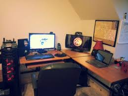l shaped gaming computer desk cool computer setup gaming setup l shaped computer desks are l