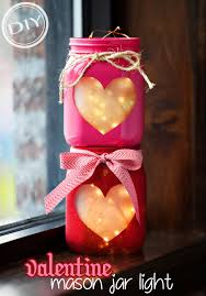 Valentine Home Decorations Diy Valentine Mason Jar Light U2013 Top Easy Interior Decor U0026 Craft