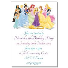 disney princesses birthday invitations disney princess birthday