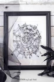 halloween art watercolor spider web free print sustain my