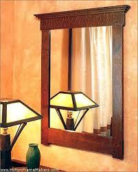 Oak Bathroom Mirrors - craftsman duo frame mirror in oak for the half bath over the