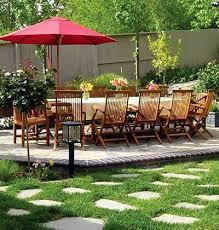 casual garden patio balmy summer evenings invite dining outdoors