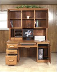 Amish Made Computer Desks Flat Top Computer Desk With Hutch