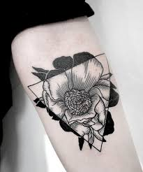 geometric tattoos tattoos geometric flower and black and gray