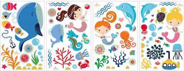 mermaids decorative peel stick wall art sticker decals for kids mermaids decorative peel stick wall art sticker decals for kids room or nursery