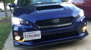 subaru arctic nokya hyper yellow fog lights 2016 subaru wrx youtube