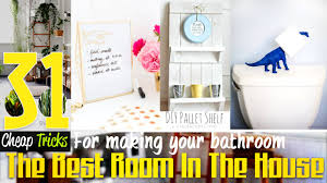31 sweet and cheap bathroom decor ideas youtube