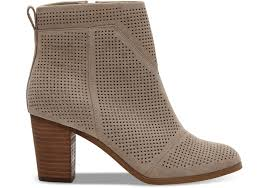 women toms new desert taupe suede perforated women s lunata booties