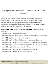 Govt Jobs Resume Upload by Top8governmentcontractadministratorresumesamples 150606091217 Lva1 App6891 Thumbnail 4 Jpg Cb U003d1433581983