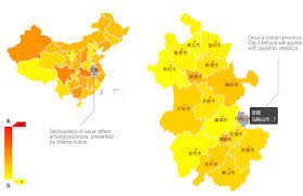 China On The Map by Pm2 5 China