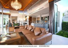 in livingroom luxury interior design living room pool stock photo 662758963