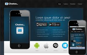 free website templates for android apps chatoo a application mobile website template by w3layouts