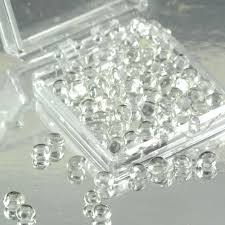 edible jewels sugar cake jewels clear 4mm diamond droplets edible sugar cake