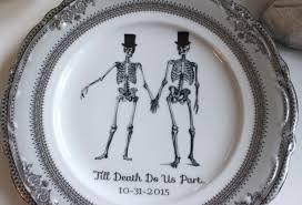 and groom plates customizable skeleton wedding groom groom on