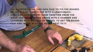 Can You Refinish Bamboo Floors How To Fix A Water Damaged Timber Or Bamboo Floor Youtube