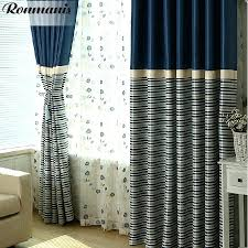 navy blue striped shower curtains 2 curtains drapes window