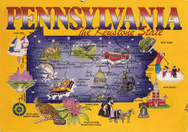 Map Pennsylvania by Coast To Coast Deltiolog