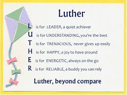 acrostic name poems for boys luther